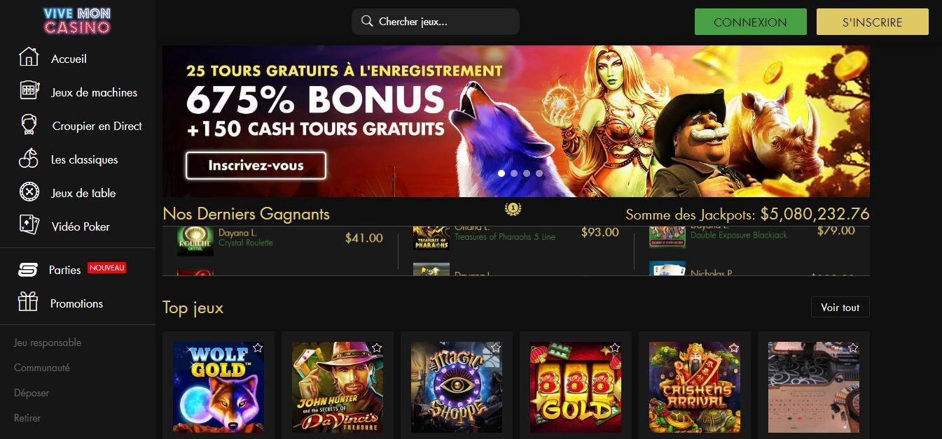 vive mon casino jeux